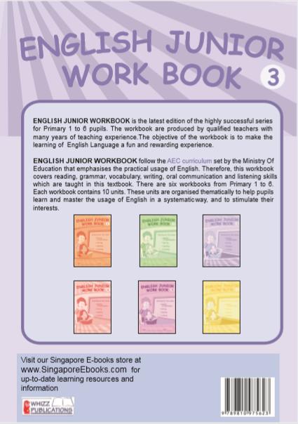 English Junior Textbook For Grade 1 – Singapore E-books
