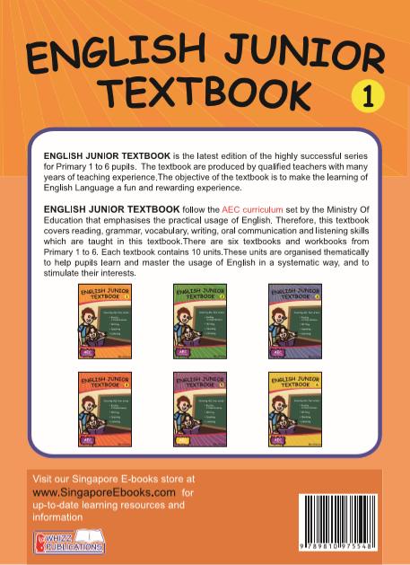 English Junior Textbook For Grade 1